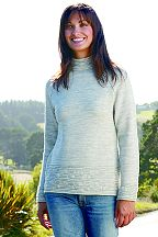 ladies raised neck sweater